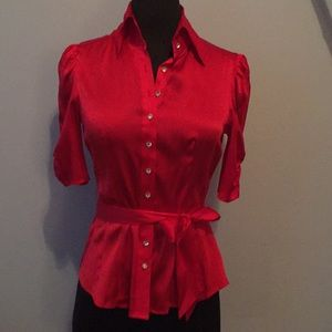 Bebe silk blouse